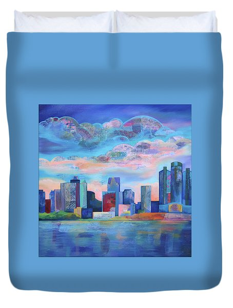 Say Nice Things About Detroit Duvet Cover