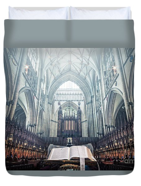 Say Your Prayers Duvet Cover