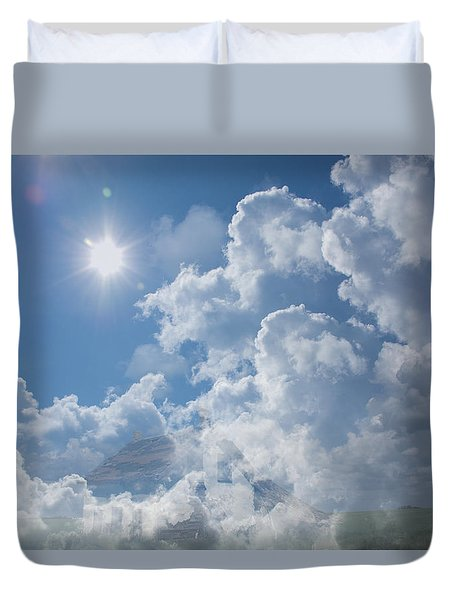 Sayers Homestead In The Clouds Duvet Cover