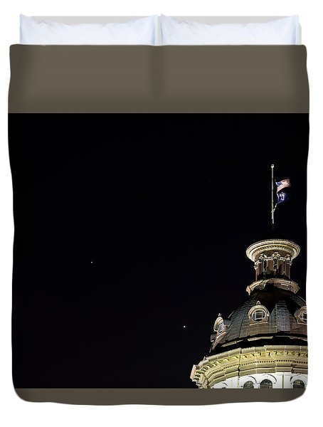 Sc State House Dome And Conjunction Duvet Cover