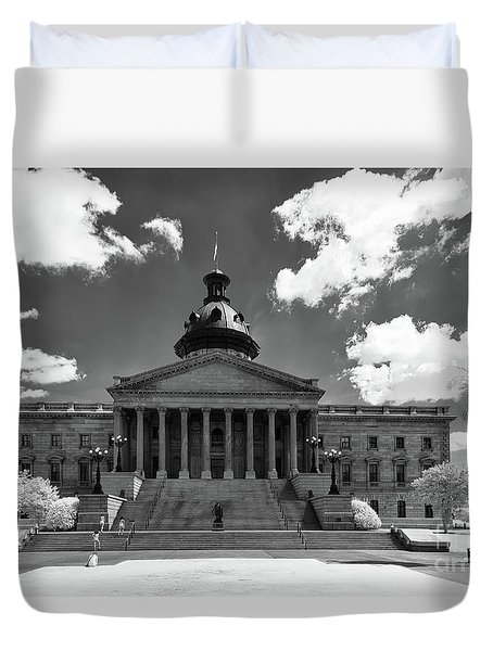 Sc State House - Ir Duvet Cover