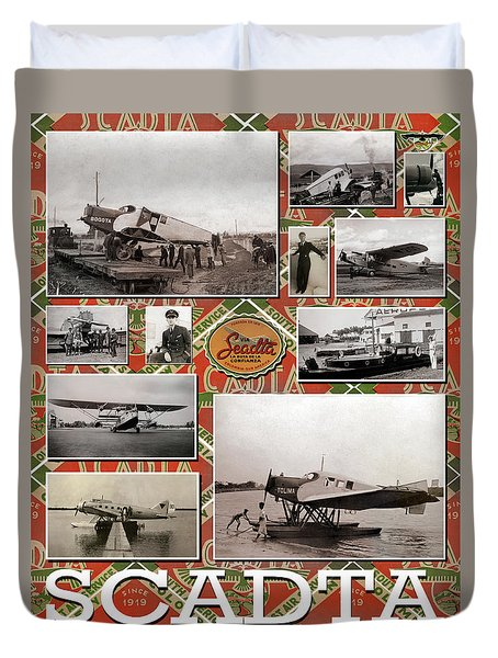 Scadta Airline Poster Duvet Cover