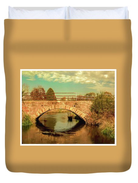 Scandinavia Stone Bridge 1 Duvet Cover by Trey Foerster