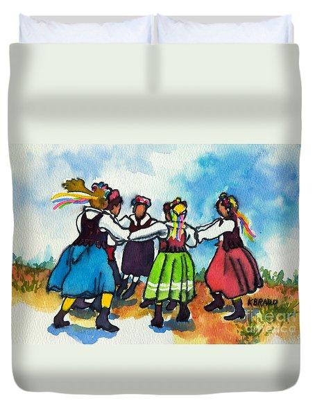 Scandinavian Dancers Duvet Cover