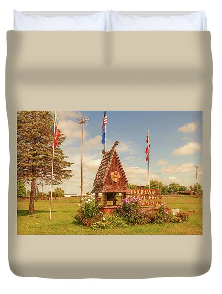 Scandy Memorial Park Duvet Cover by Trey Foerster
