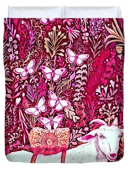 Scapegoat Healing In Fuchsia Duvet Cover