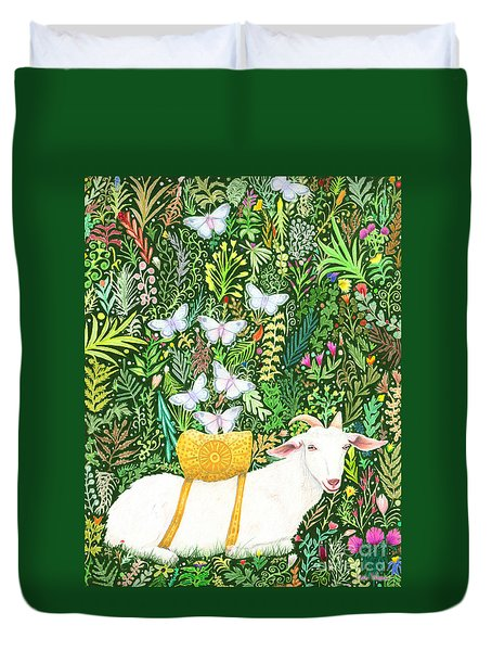 Scapegoat Healing Duvet Cover by Lise Winne