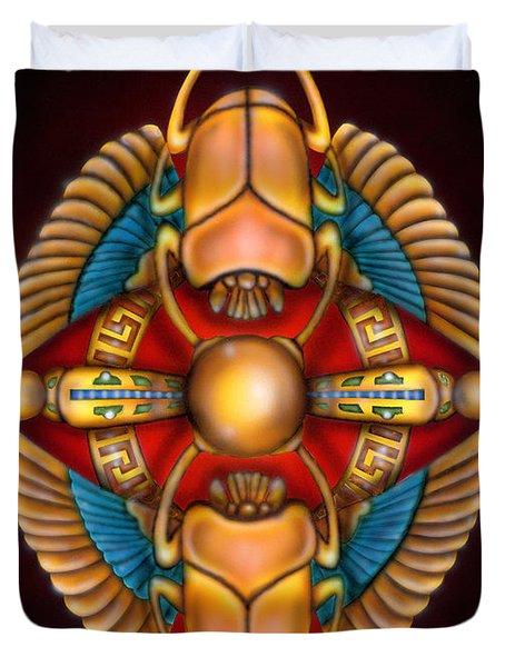 Scarab Beetle Design Duvet Cover