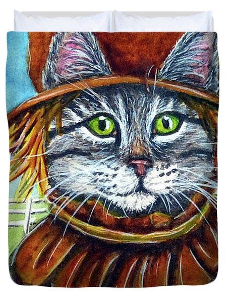 Scarecrow Tabby Duvet Cover