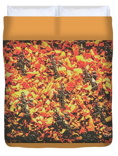 Scarecrows From Fires Burn  Duvet Cover