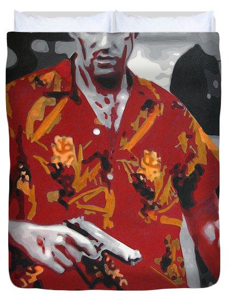 Scarface 2013 Duvet Cover by Luis Ludzska