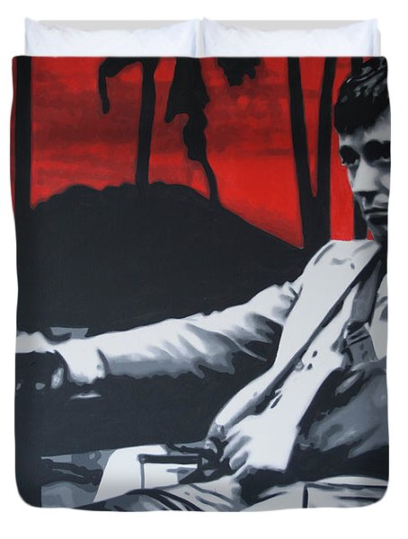 Scarface - Sunset 2013 Duvet Cover by Luis Ludzska