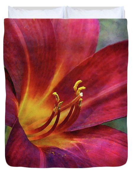 Scarlet And Gold Dust 3716 Idp_2 Duvet Cover