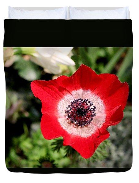Scarlet Anemone Duvet Cover