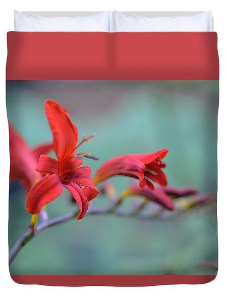 Scarlet Blooms Duvet Cover