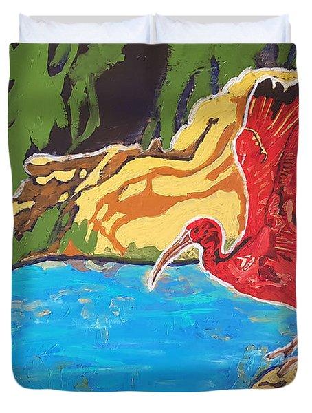Scarlet Ibis Duvet Cover