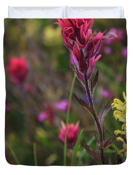 Scarlet Paintbrush Duvet Cover