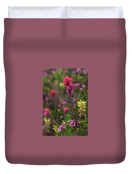 Scarlet Paintbrush Duvet Cover