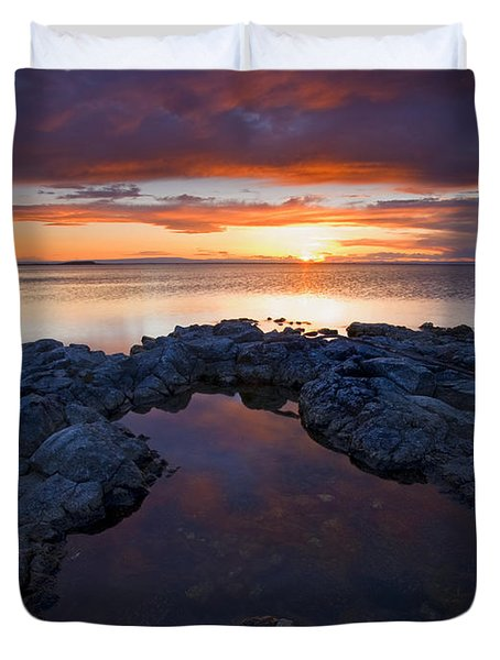Scarlet Pools Duvet Cover by Mike  Dawson