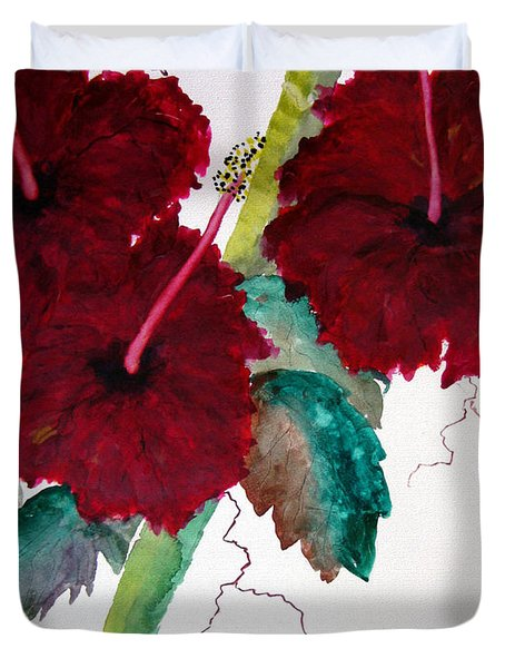 Scarlet Red Duvet Cover