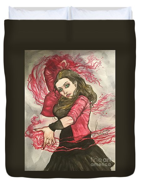 Scarlet Witch  Duvet Cover by Jimmy Adams