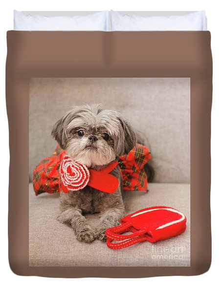 Scarlett And Red Purse Duvet Cover