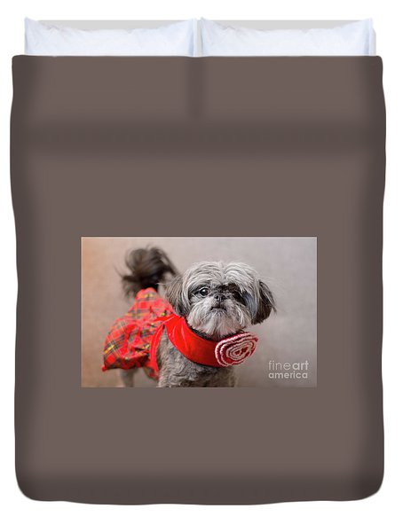 Scarlett In Christmass Dress Duvet Cover