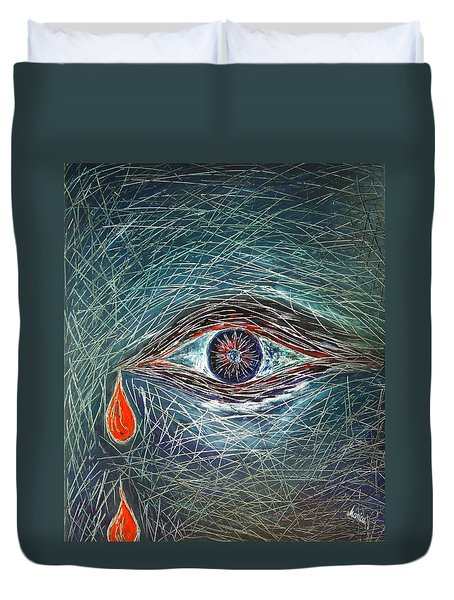 Scars In My Soul Duvet Cover by Marianna Mills