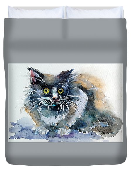 Scary Cat Duvet Cover