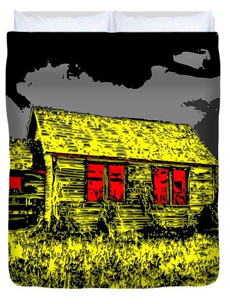 Scary Farmhouse Duvet Cover