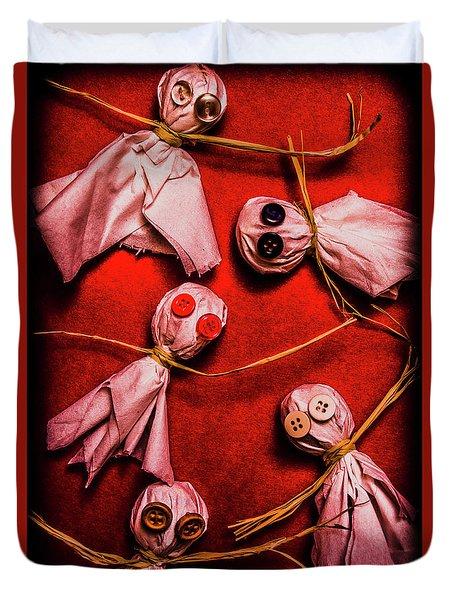 Scary Halloween Lollipop Ghosts Duvet Cover
