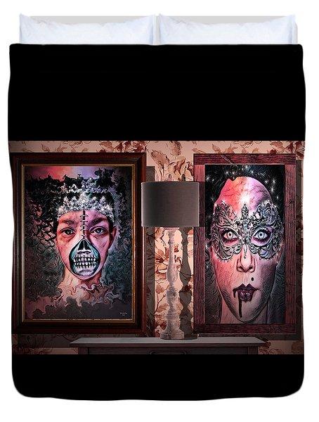 Scary Museum Wallart Duvet Cover