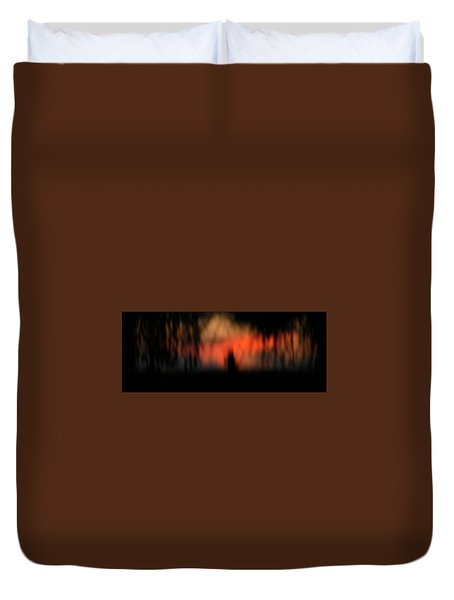 Duvet Cover featuring the photograph Scary Nights by Marilyn Hunt