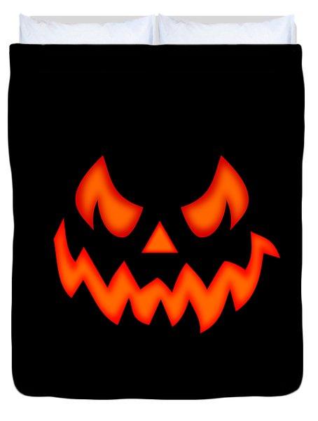 Scary Pumpkin Face Duvet Cover by Martin Capek