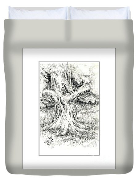 Scary Tree Duvet Cover by Ruth Renshaw