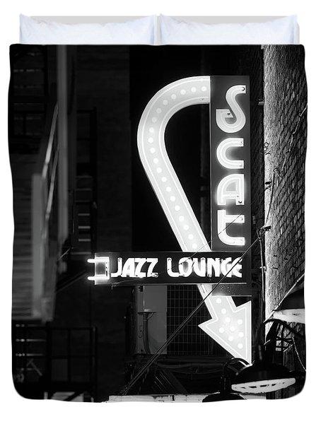 Scat Jazz Bw 11217 Duvet Cover