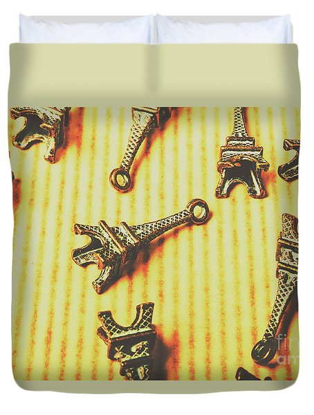 Scatterings From The City Of Romance Duvet Cover