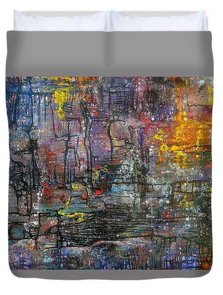Schematics Of The Arcane Duvet Cover by Regina Valluzzi