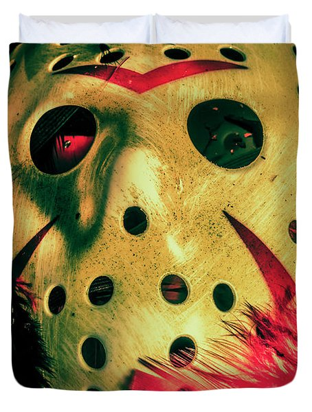 Scene From A Fright Night Slasher Flick Duvet Cover