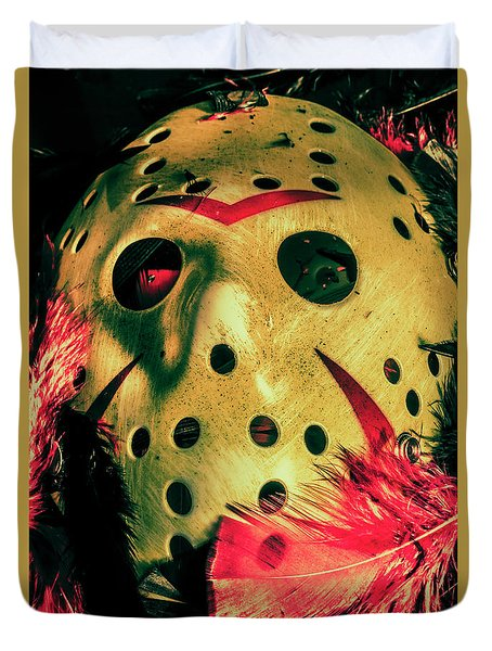 Scene From A Fright Night Slasher Flick Duvet Cover by Jorgo Photography - Wall Art Gallery