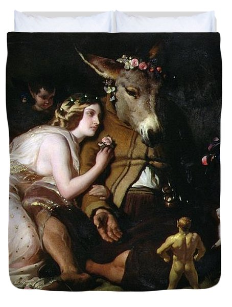 Scene From A Midsummer Night's Dream Duvet Cover by Sir Edwin Landseer
