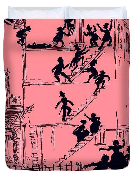 Scene From Murder In The Rue Morgue By Edgar Allan Poe Duvet Cover