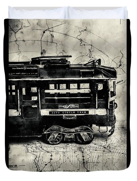 Scene From The Old Tramway Duvet Cover