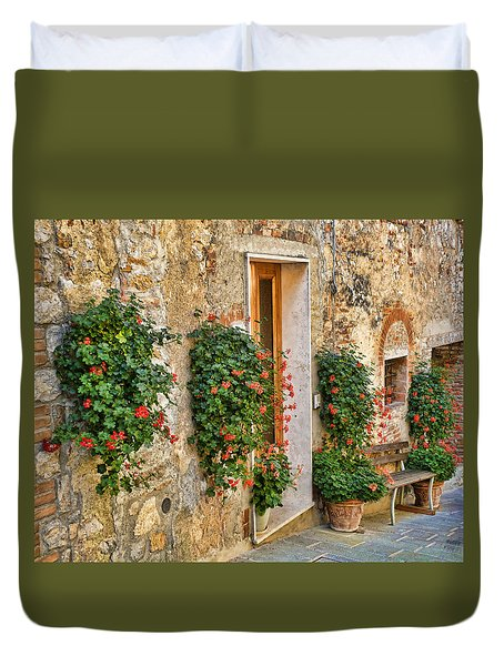 Scene In Tuscany Duvet Cover