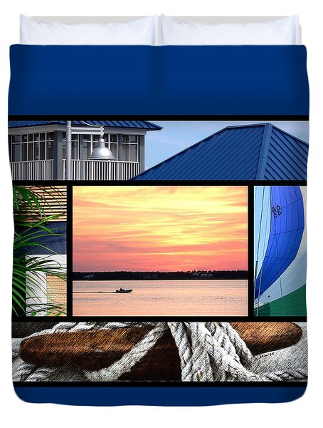 Scenes From The Bay Duvet Cover
