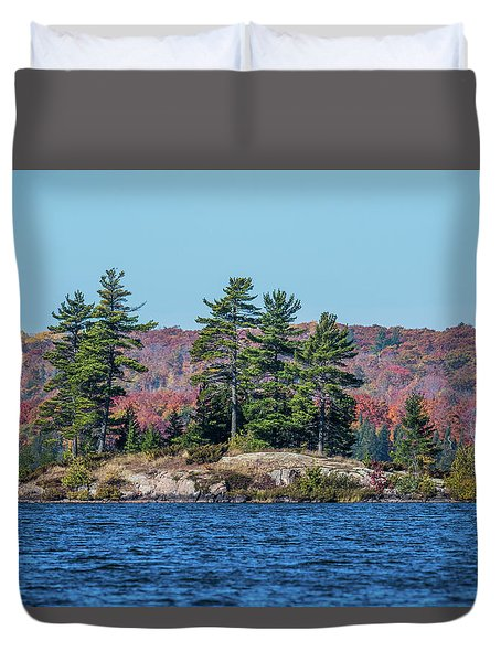 Duvet Cover featuring the photograph Scenic Fall View by Paul Freidlund