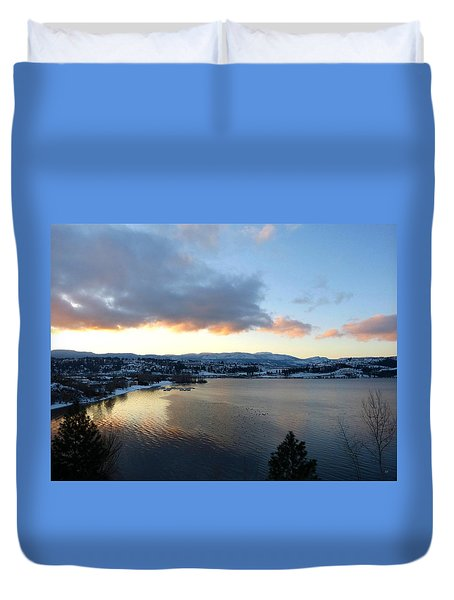 Duvet Cover featuring the photograph Scenic Lake Country by Will Borden