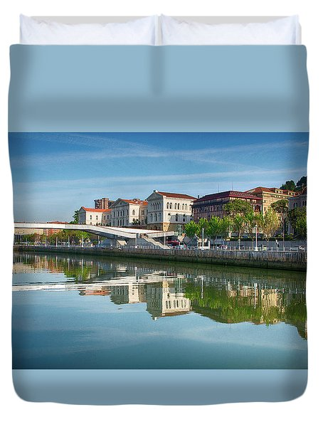 Scenic River View Duvet Cover by James Hammond