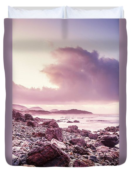 Scenic Seaside Sunrise Duvet Cover