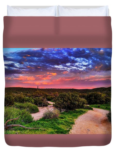 Scenic Trailhead Duvet Cover by Anthony Citro